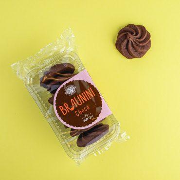 """BRAUNINI Choco"" Печиво Брауніні зі смаком шоколаду ТМ Богуславна 200 г"